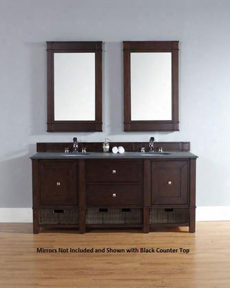 "Madison 800v72bnmcar 72"" Double Vanity With 2 Doors 2 Shelves 2 Drawers 2 Sinks Included Carrara White Marble Top Satin Nickel Hardware White Poplar And"