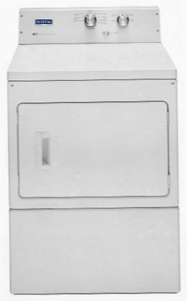"Mgdp475ew 27"" Gas Dryer With 7.4 Cu. Ft. Capacity Intellidry Sensor Heavy-duty Motor Commercial Technology Sanitize Cycle And Wrinkle Prevent Option:"