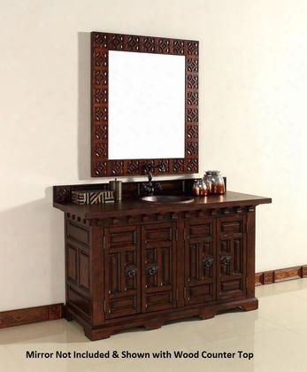 "Monterey 170v60danbdsc 60"" Double Vanity With 1 Shelf 4 Doors 2 Sinks Included Santa Cecilia Granite Top Antique Iron Hardware Oak And Birch Materials In"