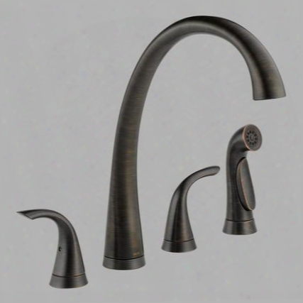Pilar 2480-rb-dst Delta Pilar: Two Handle Widespread Kitchen Faucet With Spray In Venetian