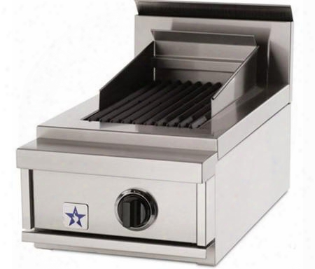 "Przidcb15v2lp 15"" Indoor Charbroiler With 15 000 Btu Burner Adjustaable Cast-iron Grates Commercial Stainless Steel Construction And Adjustable Grate"