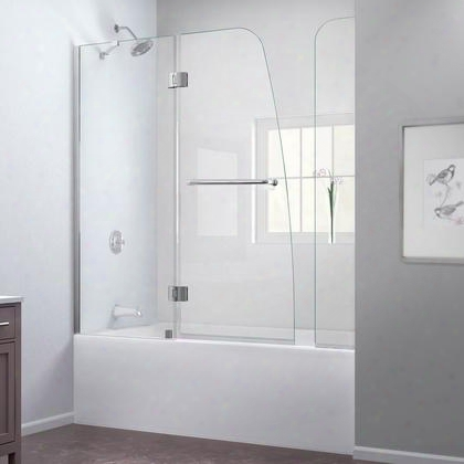 Shdr-3148586-ex-04 Aqua 56 To 60 In. W X 58 In. H Hinged Tub Door Brushed Nickel Finish