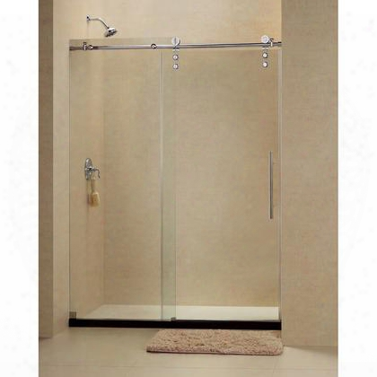 Shdr-6260760-08 Enigma-z 56 To 60 Fully Frameless Sliding Shower Door Clear 3/8 Glass Door Polished Stainless Steel