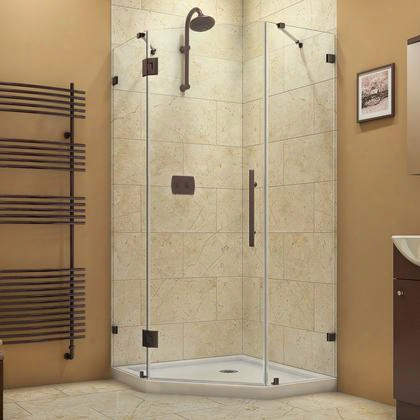 Shen-2238380-06 Prismlux 38 In. W X 38 In. D X 72 In. H Hinged Shower Enclosure Oil Rubbed Bronze Finish