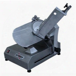 """Ss-300a 12"""" Automatic Slicer With 3/4 Hp Motor 46 Slices Per Minute Production Compact Design Safety Rear Ring Guard And Sharpener Guard In Stainless"""