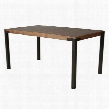 "AA-5120-360-AR-WA 36"" x 60"" Amrita Dining Table with Rectangular Walnut Wood Veneer Top and Iron Base in Autumn"