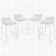 EEI-1365-WHI Garner Bar Stool Set of 4 in White