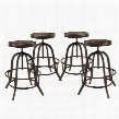 EEI-1607-BRN-SET Collect Bar Stool Set of 4 in Brown