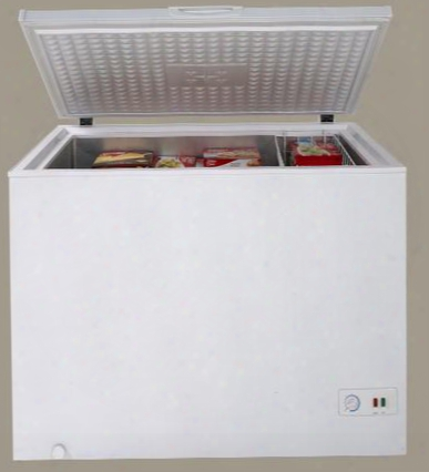 "Cf10m0w 43"" Chest Freezer With Adjustable Thermostat 2 Removable Storage Baskets Defrost Drain Rollers For Easy  Mobility Compressor And Power Indicator"