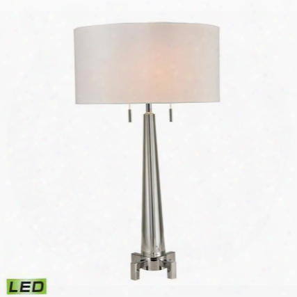 D2681-led Bedford Solid Crystal Led Table Lamp In Polished