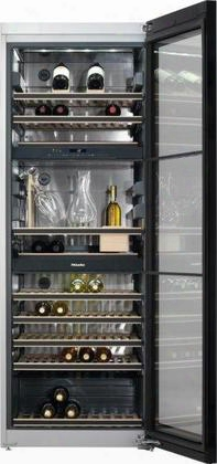 "Kwt6832sgs 28"" Freestanding Wine Storage System With 3 Independent Cooling Zones Low-vibration Compressor Active Airclean Filter 2 Inclinable Decanting"