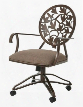 Qlbr16017357 Brownsville Dining Caster Chair With Arms In