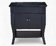 Colorado VCOLORADODR30BK Vanity Base with Double Doors Lower Shelf Oil Rubbed Bronze Finished Hardware and Tapered Legs in