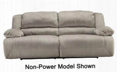 "Toletta 5670347 96"" 2-seat Power Reclining Sofa With Bustle Back Design Thick Pillow Top Arms And Metal Drop-in Unitized Seat Box In"