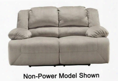 "Toletta 5670374 73"" Power Reclining Loveseat With Bustle Back Design Thick Pillow Top Arms And Textured Fabric Upholstery In"