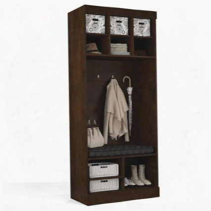 "26167-69 Pur 83.7"" Tall Storage Unit With 9 Open Storage Sections And Bench In"