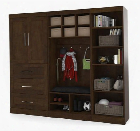 "26855-69 Pur 97"" Mudroom Kit With Simple Pulls And Thrse Adjustable Shelves In"