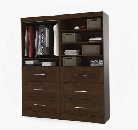 "26856-69 Pur 84"" Tall Classic Kit With Simple Pulls And Three Adjustable Shelves In"