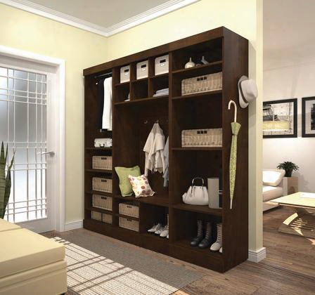 "26873-69 Pur 86"" Mudroom Kit With 20 Open Storage Sections And Bench In"