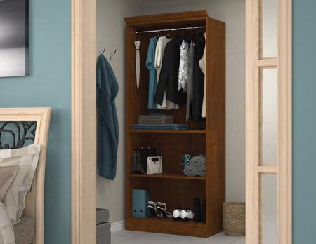 "40160-2163 Versatile 84.9"" Tall Closet Storage Hell With Burn Scratch And Stain Resistant Surface In Tuscany"