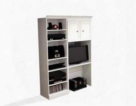 "40865-17 Versatile 61"" Wall Unit Kit With Simple Pulls And Burn Scratch And Stain Resistant Surface In"