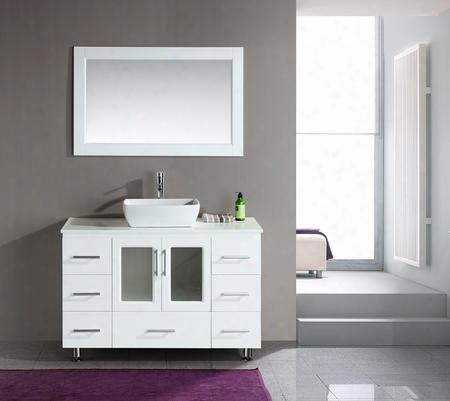 """B48-vs-w Stanton 48"""" Single Sink Vanity Set With Vessel Sink In"""
