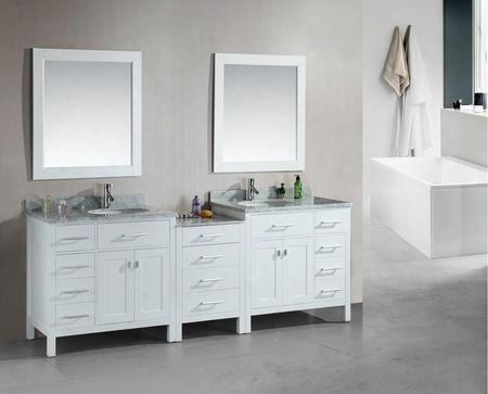 "Dec076d-w-92 London 92"" Double Sink Vanity Set In"