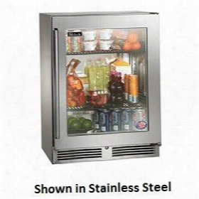 """Hh24ro-3-4r Shallow-depth Series 24"""" Outdoor Refrigerator With 3.1 Cu. Ft. Capacity Stainless Steel Interior And 2 Pull-out Shelves: Fully Integrated Glass"""