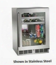 "Hp24bo-3-4r 24"" Signature Series Outdoor Beverage Center With 5.2 Cu. Ft. Capacity Digital Control Module And Stainless Steel Exterior And Interior:"