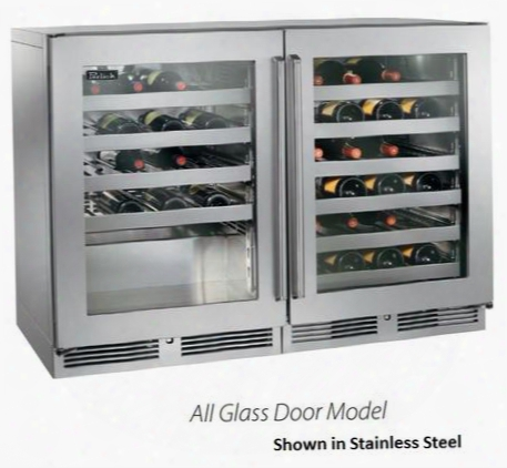 "Hp48wo-s-3-4l-4r 48"" Signature Series Single Zone Wine Reserve With 80 Bottle Capacity 10 Full-extension Wine Shelves And Stainless Steel Interior And"