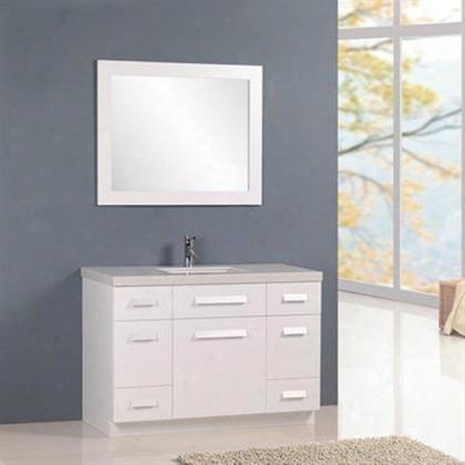 "J48-ds-w Moscony 48"" Single Sink Vanity Set In"