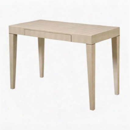 """Oceana Collection 6042457 42"""" Console Table With 1 Hidden Drawer Tapered Legs Pale Taupe And Faux Stingray Style Leather In Cream Shagreen"""