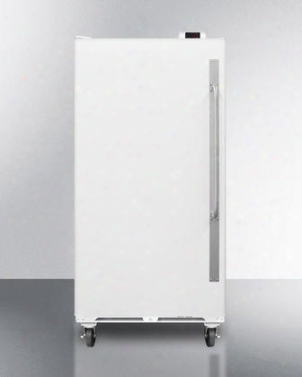 """Scur18lhd 34"""" All-refrigerator With 16.7 Cu. Ft. Capacity Door Storage Interior Light Casters Lock Digital Thermostat And Commercially Approved In White:"""