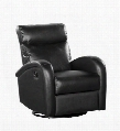 D55198MRT01 Black Reclining Glider that Swivels -