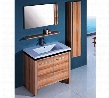WTH0932 Sink Vanity With Mirror and Side Cabinet - No Faucet in Light