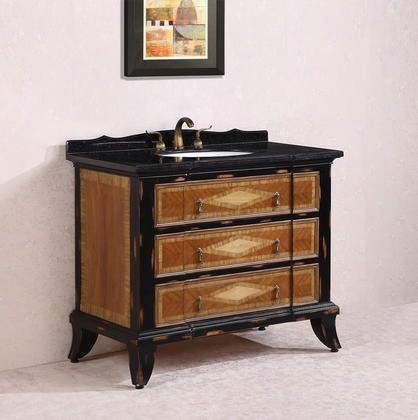 Wh2144 44 Solid Wood Sink Vanity With Granite-no Faucet In Light