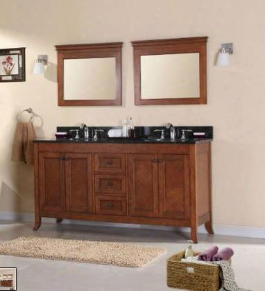 Wlf6078-60+top 60 Double Sink Cabinet-matching Granite From Wlf5020 Wlf5048 Wlf6018 In