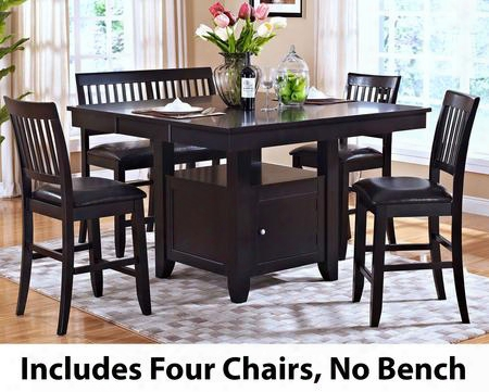 4510210cc Kaylee 5 Piece Counter Height Dining Room Set With Table And Four Chairs In
