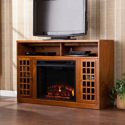 Fe9302 Narita Media Electric Fireplace - Glazed