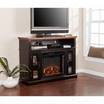 Fe9323 Oxford Media Electric Fireplace - Ebony Stain/dark