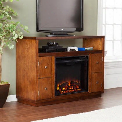Fe9384 Brentford Media Electric Fireplace - Dark