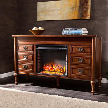 Fe9683 Haverford Electric Fireplace Console - Whiskey