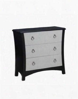 "Fleming Collection 14a2076 36"" Chest With Three Deep Drawers And White Pu Crocodile Print Drawer Fronts In"