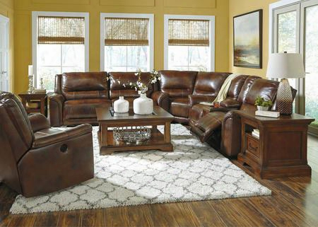 Jayron U76600pssr 2-piece Living Room Set With  Power Operted Sectional Sofa And Power Rocker Recliner In