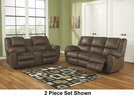 Quarterback 32701slr 3-piece Living Room Set With Sofa Loveseat And Recliner In