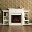 FE8544 Tennyson Electric Fireplace with Bookcases -