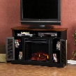 FE9305 Antebellum Media Electric Fireplace - Black with
