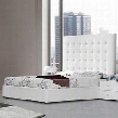 VGKCLYRICAWHTEK Modrest Lyrica - White Leather Tall Headboard