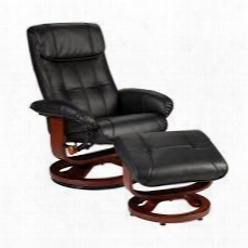 Up5803rc Bonded Leather U-base Recliner And Ottoman -