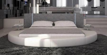 Vginrotondock Modrest Rotondo - Modern Eco-leather Bed With Led